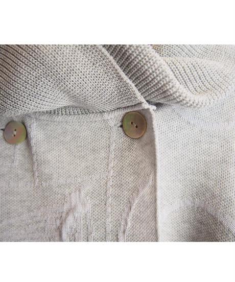 【日本製】パッチワーク柄ジャガードニットジャケット