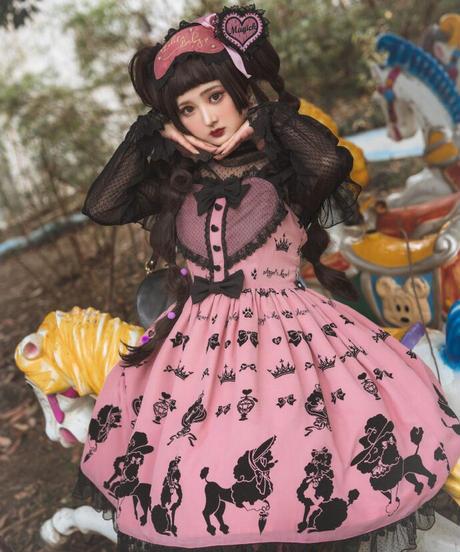 「Cute Poodle」ジャンパースカート【5/20まで】