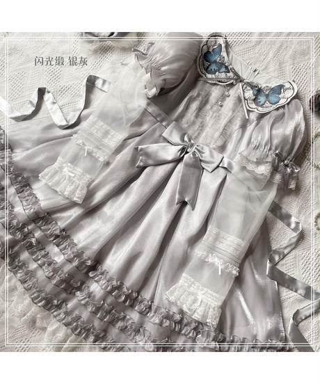 「The Butterfly」サテンワンピース【3/10まで】