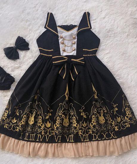 「時計兎」ジャンパースカート