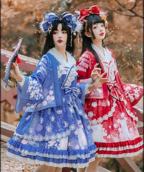 「桜藤の手紙」ジャンパースカート&羽織り セット