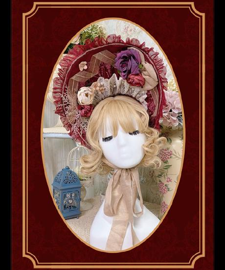 「Margaret's Teaparty」ボンネット ※お洋服と合わせ買いの方のみ※【12/8まで】