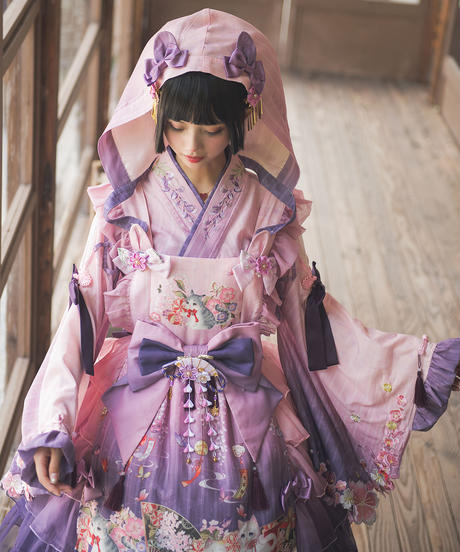 「紫藤の猫~春空幻夢」ブラウス【3/14まで】