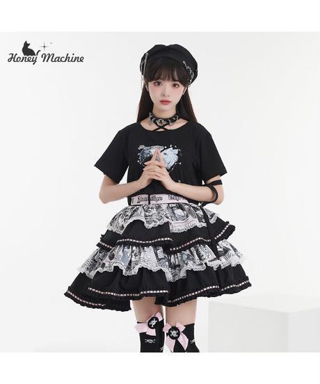 「小天狗」Tシャツ&スカート&ベレー帽セット【6/18まで】