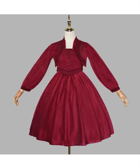 【現品販売】「Miss Tasha」ジャンパースカート&ジャケット セット