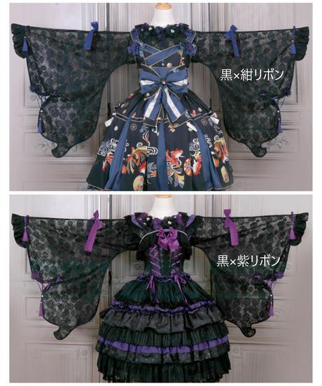 「蝶々姫」ブラウス(黒系5色)【7/12まで】