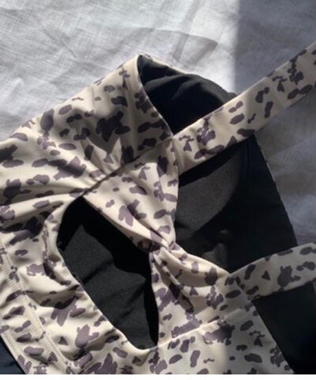 BACK DESIGN BODYSUIT/    color;leopard