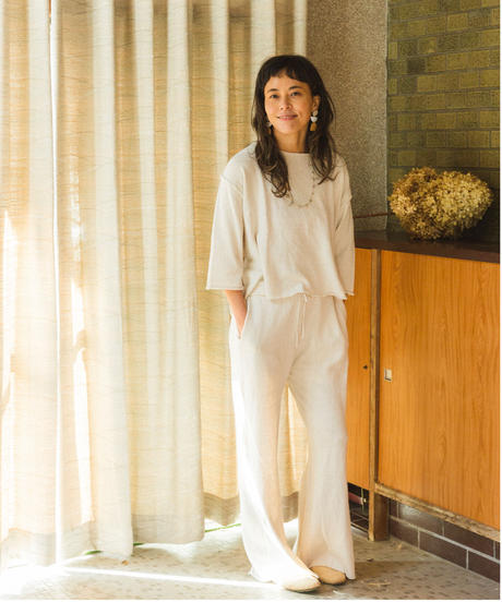 RELAX KNIT PANTS  / COLOR;natural