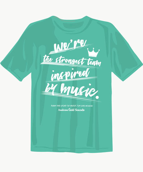 【現品限り!!早い者勝ち!!】Gold Sounds 救済計画Tシャツ(やや薄手5.0oz) new ver.ミントグリーン