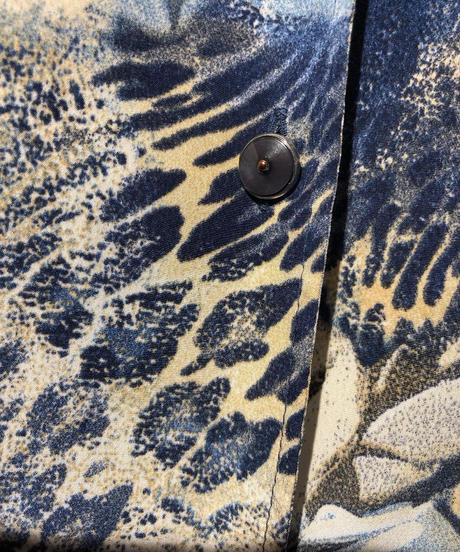 【USED 古着】豹柄&英字プリントレーヨンオープンカラーシャツ 開襟シャツ AM15295371-29