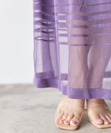 Gradation seer knit OP