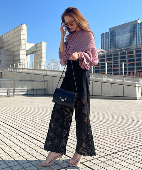 See through Dramatic Lace pants