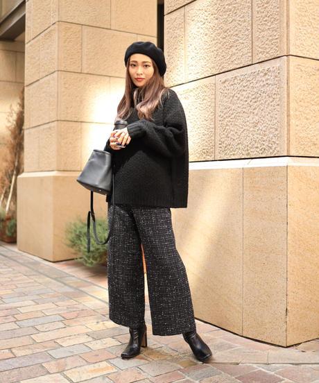tweed set up pants