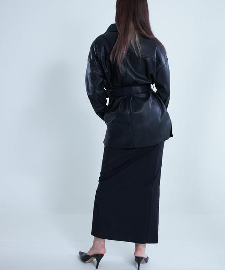 Faux Leather Shirt JK