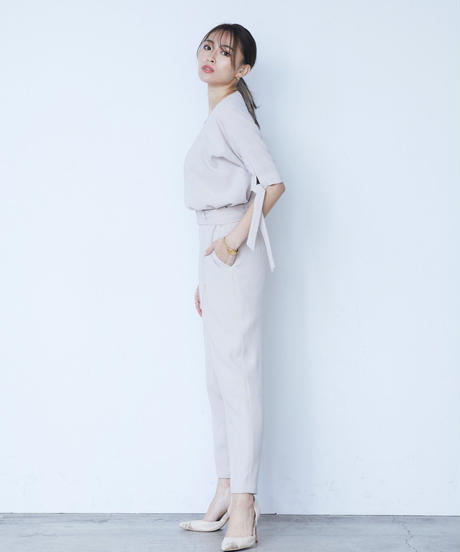 Bind sleeve TOP<BEIGE>
