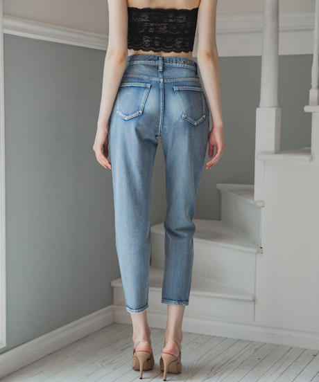 High-waist Tapered DENIM PT