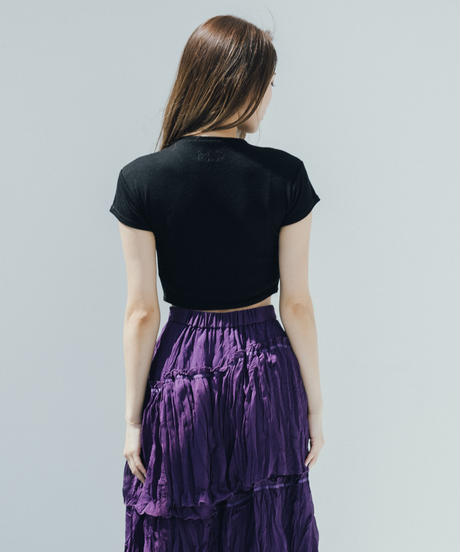 Iris Short Rib Knit Tee