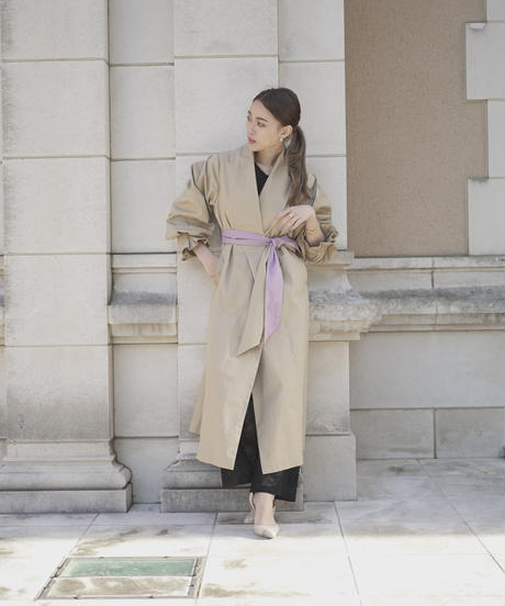 Tuck Sleeve Dramatic Coat