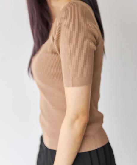 Half sleeve Lib knit TOP