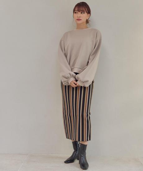 Mulch Stripe Knit Skirt