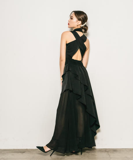 Asymmetry flare Dress