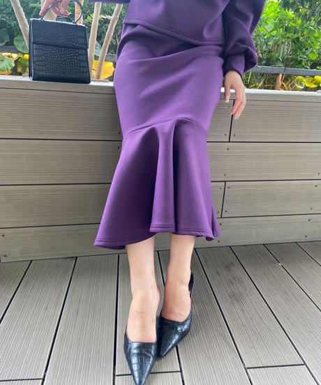 bonding peplum skirt