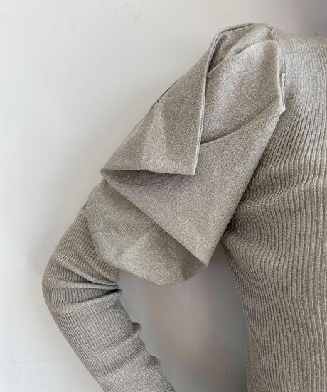 glitter draping knit top
