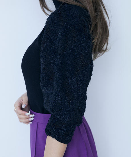 wave sleeve knit top