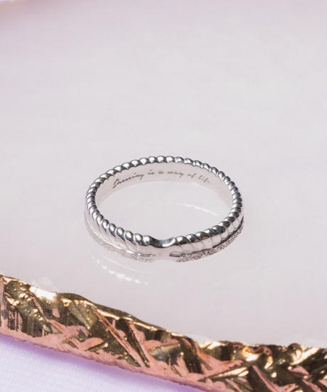 w texture ring【SILVER】