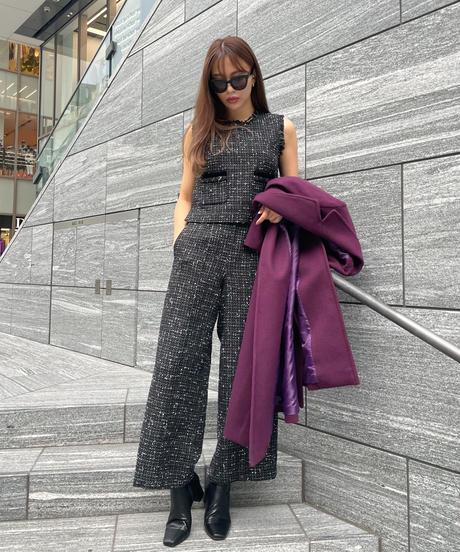 tweed set up vest