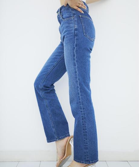 High waist Straight DENIM