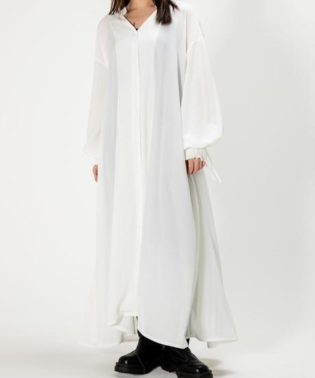 drawstring light shirt OP / WHITE