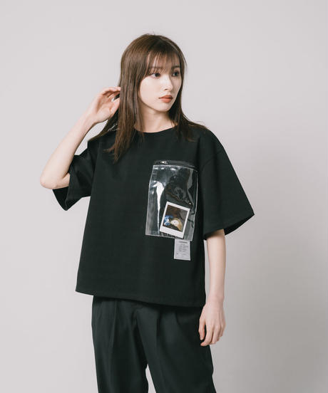 Reflection PVC pocket TEE / BLACK
