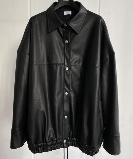 Faux leather jacket / BLACK