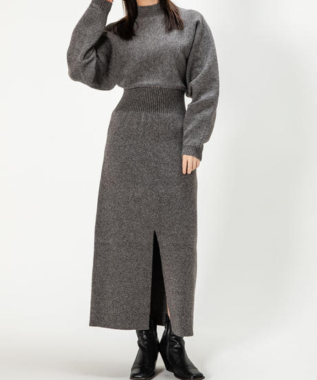Stand NC Slit Knit OP / GRAY