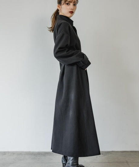 Stand fall collar coat
