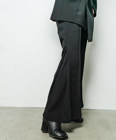 【即納】garçon Side Tuck Flare Pants / Noir