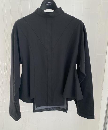 Parisienne leather blouse