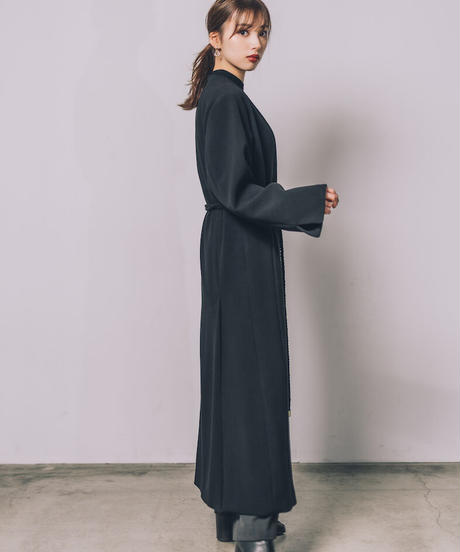 Rope belt robe coat