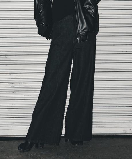 High-waist Classic Denim / BLACK