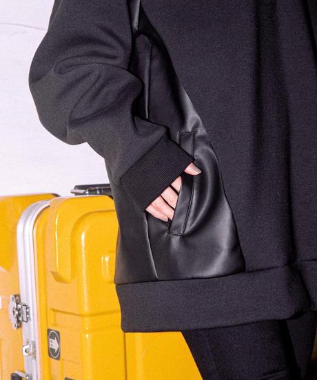 【UNISEX】Leather Pocket Pullover