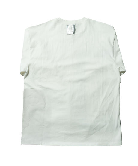Reflection painting long Tee / WHITE