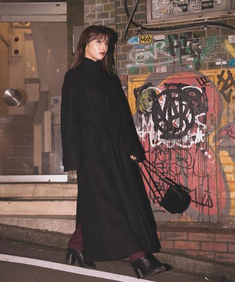 【UNISEX】Stand collar warm coat