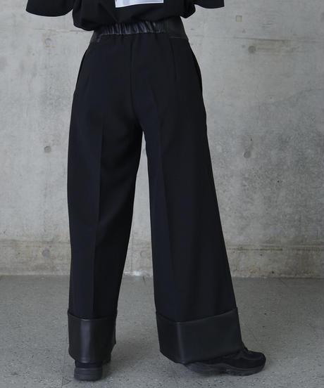 Stepwaist wide pants