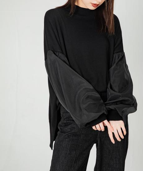 Sheer Sleeve Knit TOPS