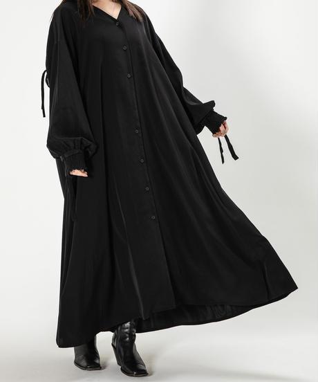 drawstring light shirt OP / BLACK