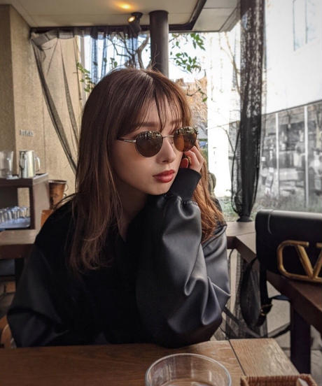hexagon color sunglasses / BROWN