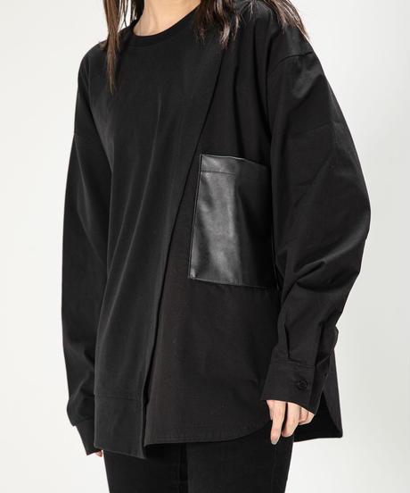 【UNISEX】Combi  Long  SleeveTee / BLACK