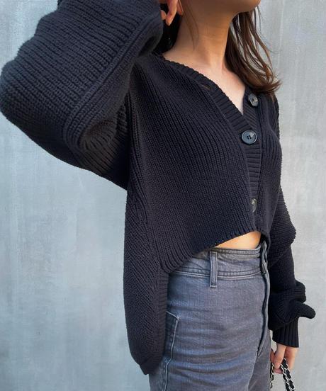 Back Tail Knit Cardigan