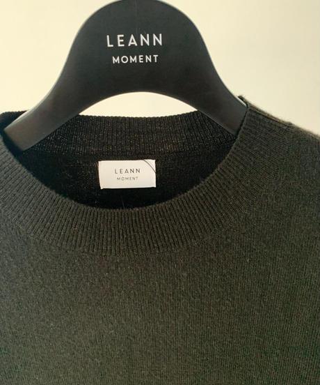Front Slit Long Knit Top
